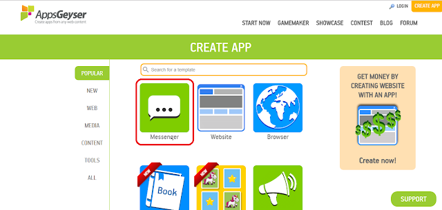 how to make free android app online