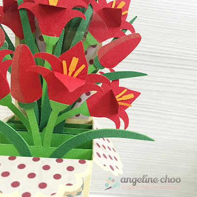 SVG Attic: Chinese New Year Flowers with Angeline #svgattic #scrappyscrappy #flowers #boxcard #card #svg #cutfile #diecut
