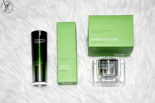 nature republic ginseng royal silk skincare in green packaging