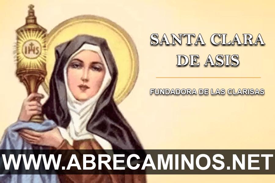 Oración AbreCaminos a Santa Clara de Asís