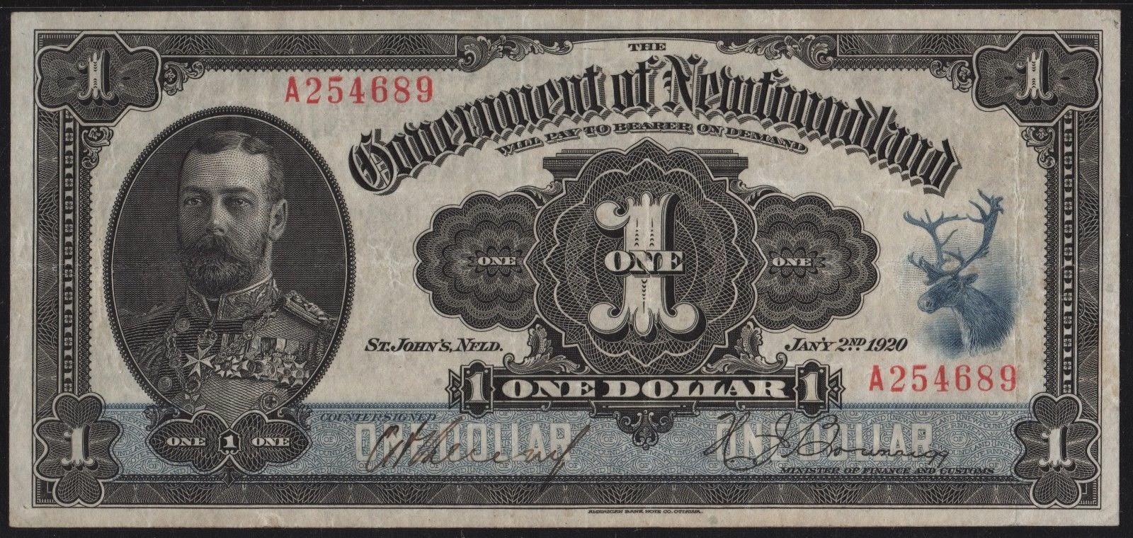 Newfoundland Dollar Bill banknote