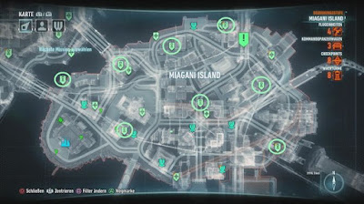 Batman Arkham Knight, Occupy Gotham, Miagani Island, Tower Locations map