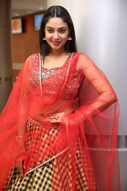 Angana Roy Stills in Lehenga Choli at Hi Life Exhibition Launch