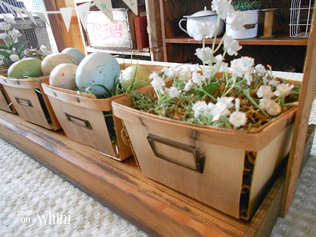 DIY Berry Basket Tote and DIY My Spring Home and Garden Blog Hop | Denise on a Whim