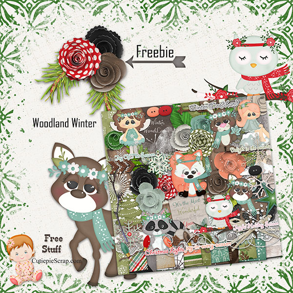 Woodland Winter Cluster Flower Freebie