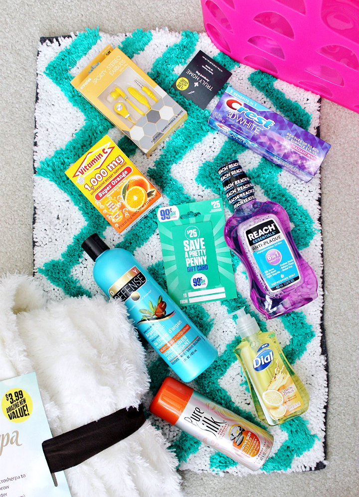 Back To School gift ideas on a budget for college students. #DoingThe99 #99YourSchoolYear #AD