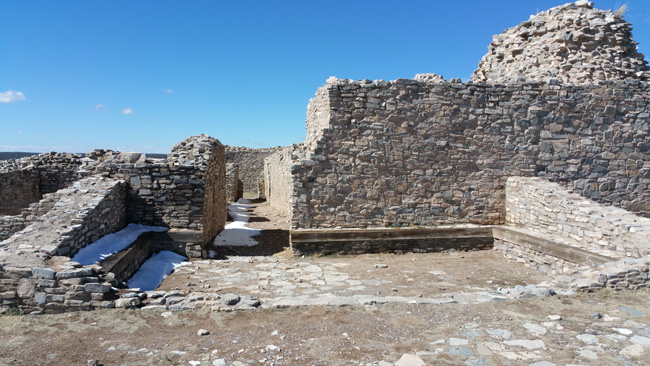 Ruins of Gran Quivira Salinas Pueblo Mission in Mountainair, New Mexico