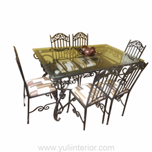 Six Seats Wrought Iron Dining Set in Port Harcourt, Nigeria