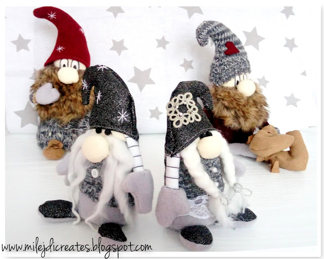 Skrzaty świąteczne, krasnale na Boże Narodzenie DIY