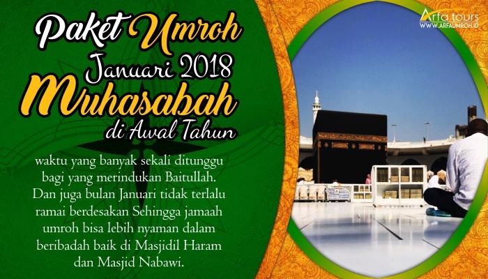 Paket Umroh Bulan Januari 2019 Arfa Tour