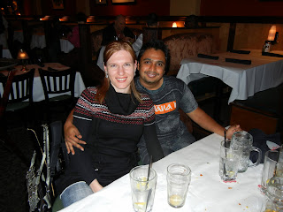 Yulia and her husband at the District Chophouse