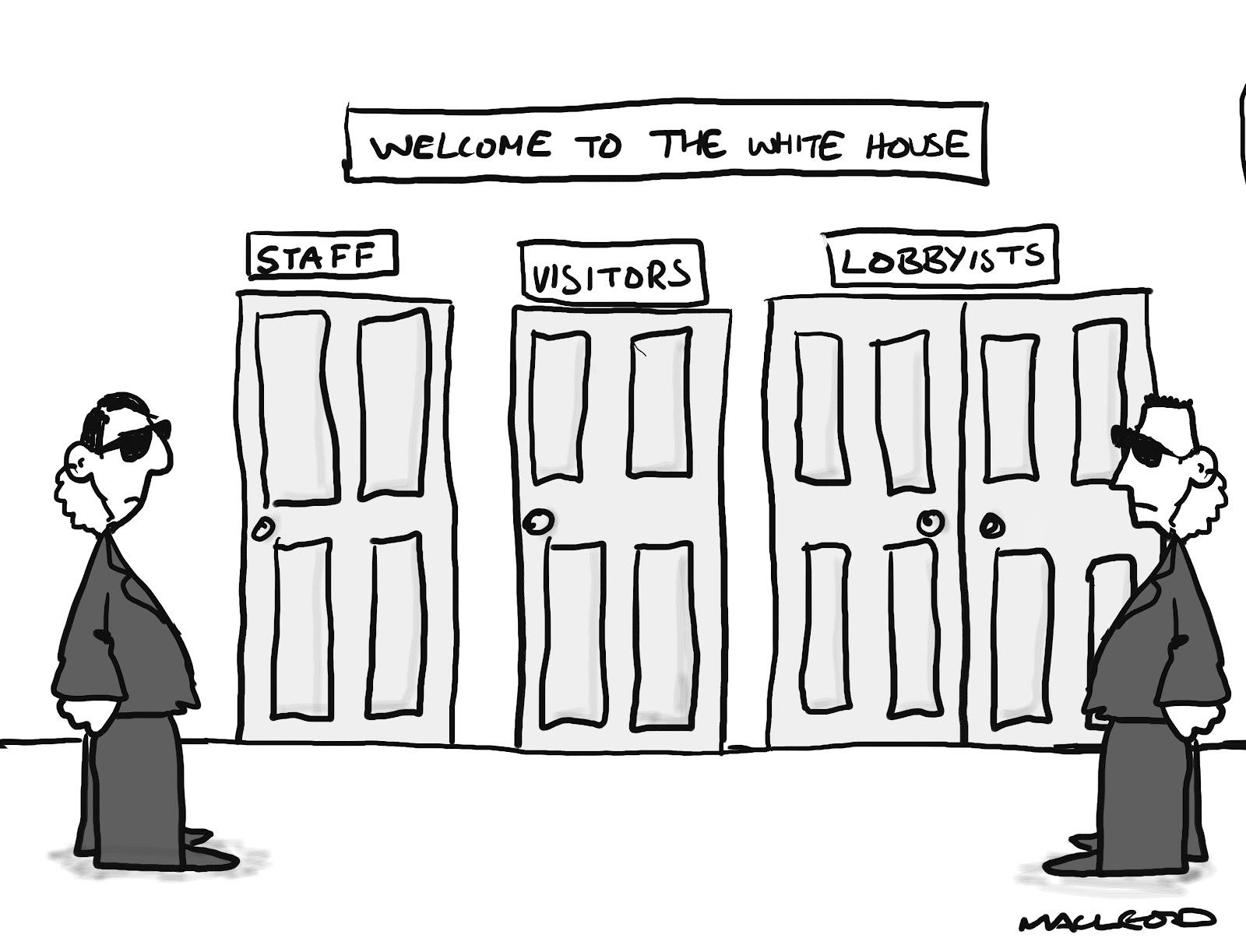 MacLeod Cartoons: White House and Lobbyists