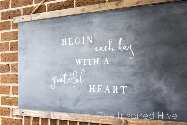 How to DIY your own modern farmhouse style chalkboard. Great idea for wall decor!