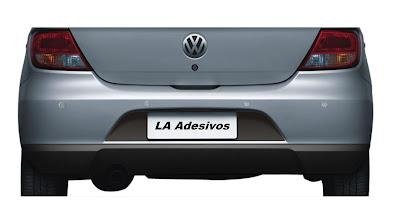 Adesivo de placa traseira VW Gol G5