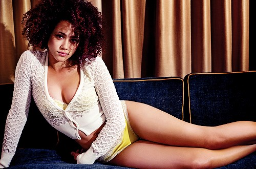 Nathalie Emmanuel shows off sultry side for GQ April 2015