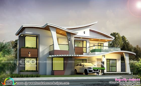 2943 sq-ft ultra modern Kerala home design