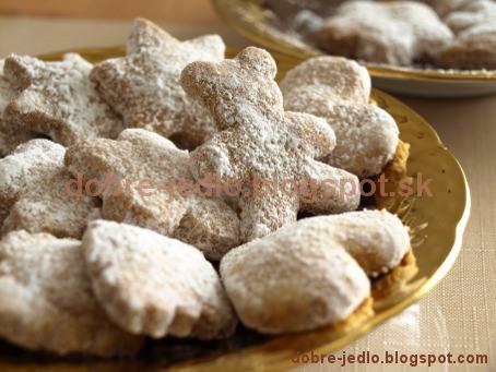 Vanilkové keksíky - recepty