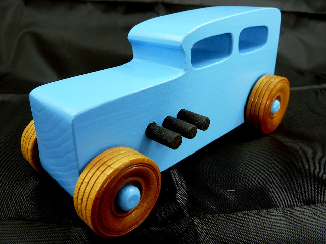 20171116-134039 - Wooden Toy Car - Hotrod Freaky Ford - 1932 Ford - Sedan