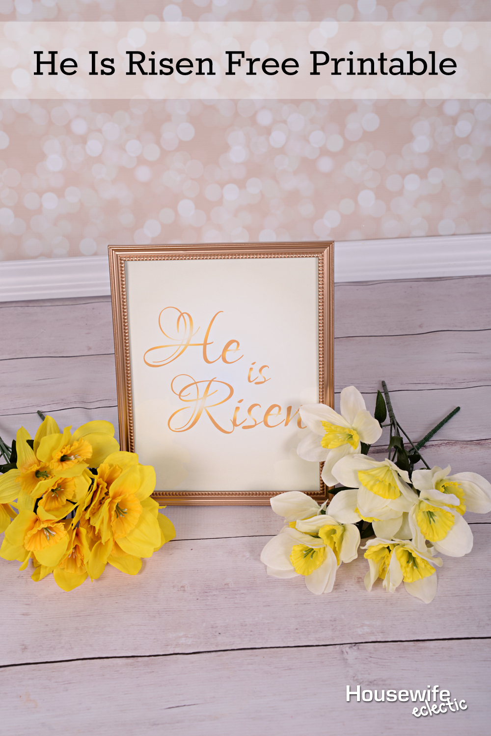 picture relating to He is Risen Printable known as He Is Risen Free of charge Printable - Housewife Eclectic