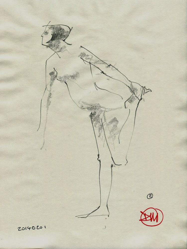 Figure drawing by David Meldrum