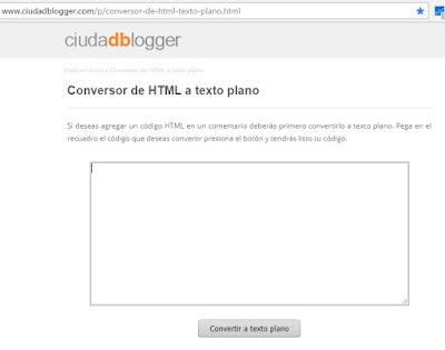 Convertir HTML a Texto Plano
