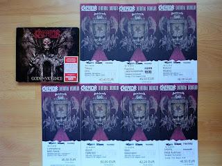 biletele la sapte din cele din noua concerte la care merg si ultimyl album Kreator, Gods of Violence