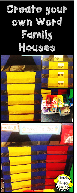 Word Family Houses Pocket Chart ~ Planet Happy Smiles