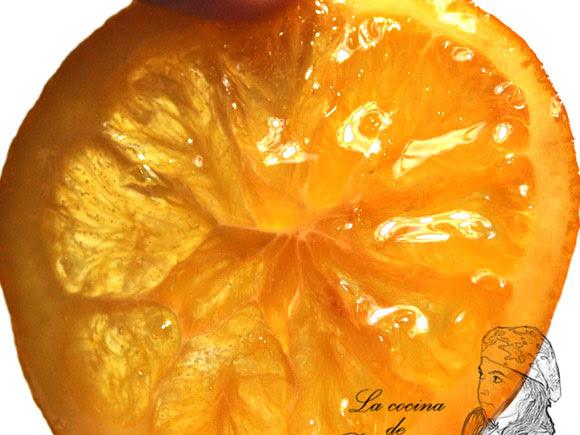 Naranja confitada sin azúcar. Gracias Dayelet