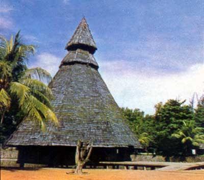 Rumah Adat Papua  Suku Toboti   S U P E R N O V A