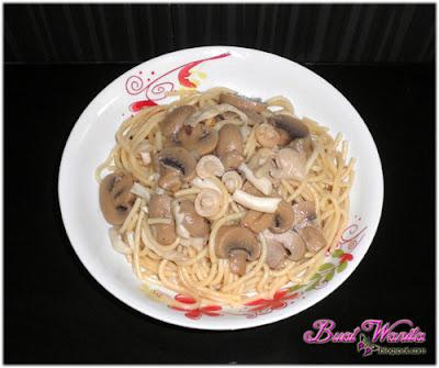 Resepi Spaghetti Goreng Cendawan Ala Aglio Olio Senang Mudah Cepat Sedap Simple