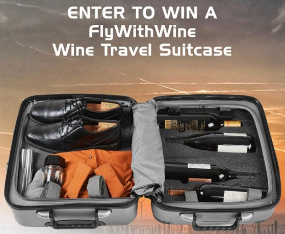 FlyWithWine Wine Luggage Suitcase Giveaway