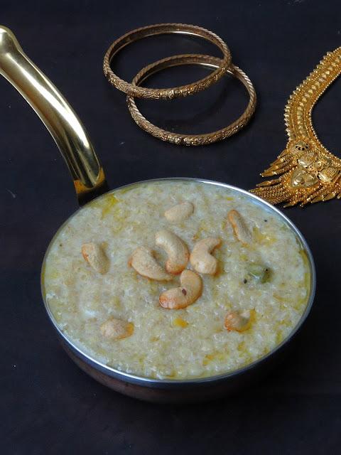 Quinoa Pasiparuppu Sakkarai Pongal, Quinoa Moongdal Pongal