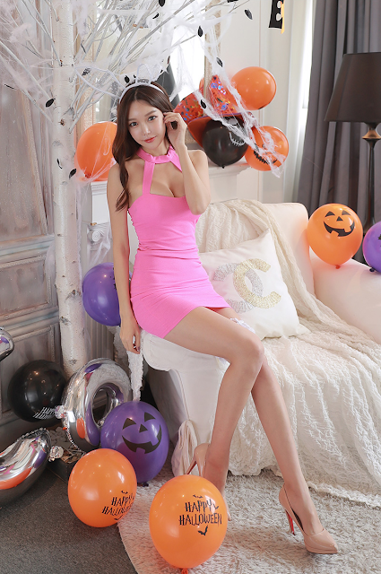 8 Yoon Ae Ji -  Halloween Set - very cute asian girl-girlcute4u.blogspot.com