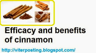 Efficacy and benefits of cinnamon