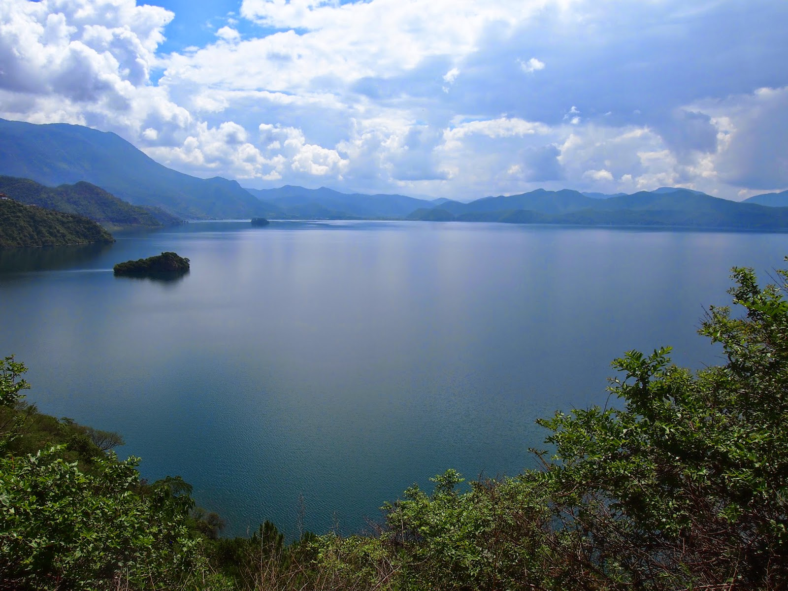 A view of Lugu Lake