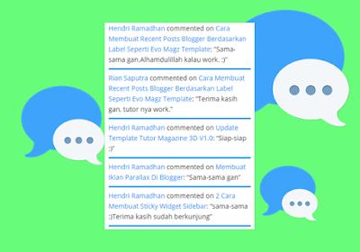 Cara Membuat Widget Komentar Terbaru Dengan Judul Postingan di Blogger