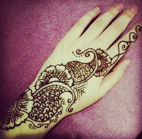 Gambar Henna Mudah Di Tiru