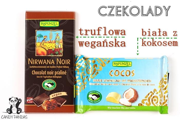 Czekolady - biała z kokosem i wegańska truflowa