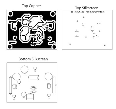 PCB Layout Comparator Circuit Class-D Amplifier