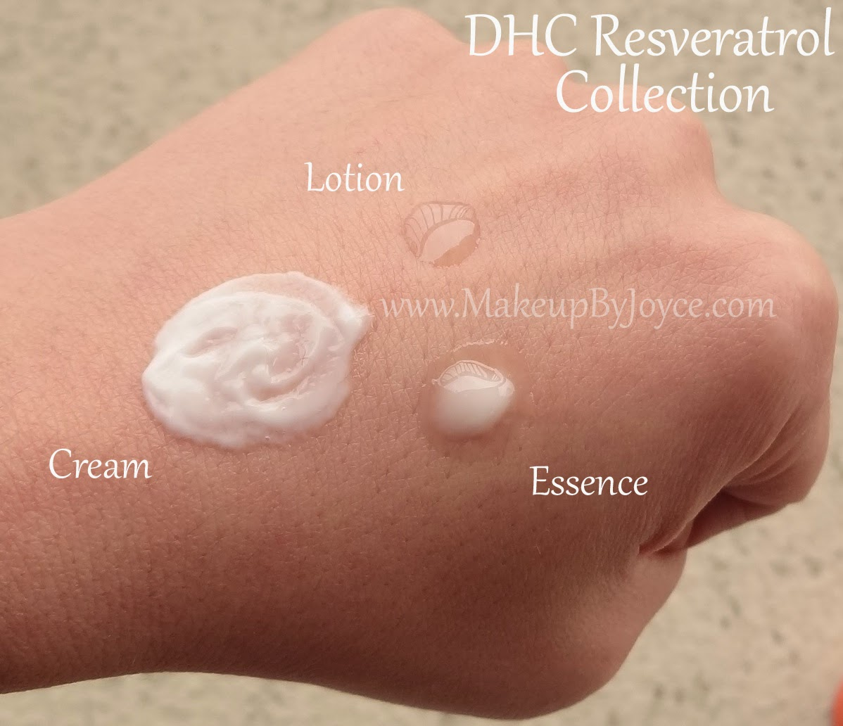 DHC Resveratrol Collection Swatches