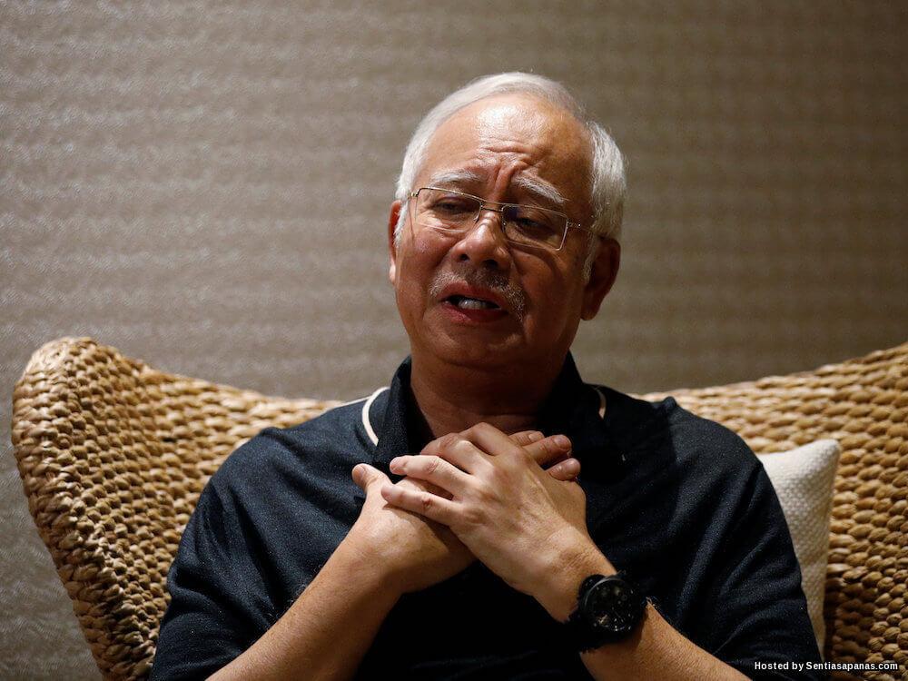 Muka lucu Najib