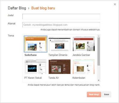 tutorial blog : cara membuat blog dari awal sampai akhir