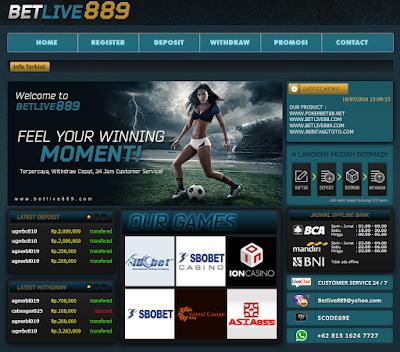 Betlive889 Agen Judi Bola Online dan Casino
