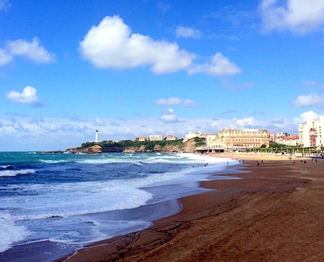 Main beach in Biarritz