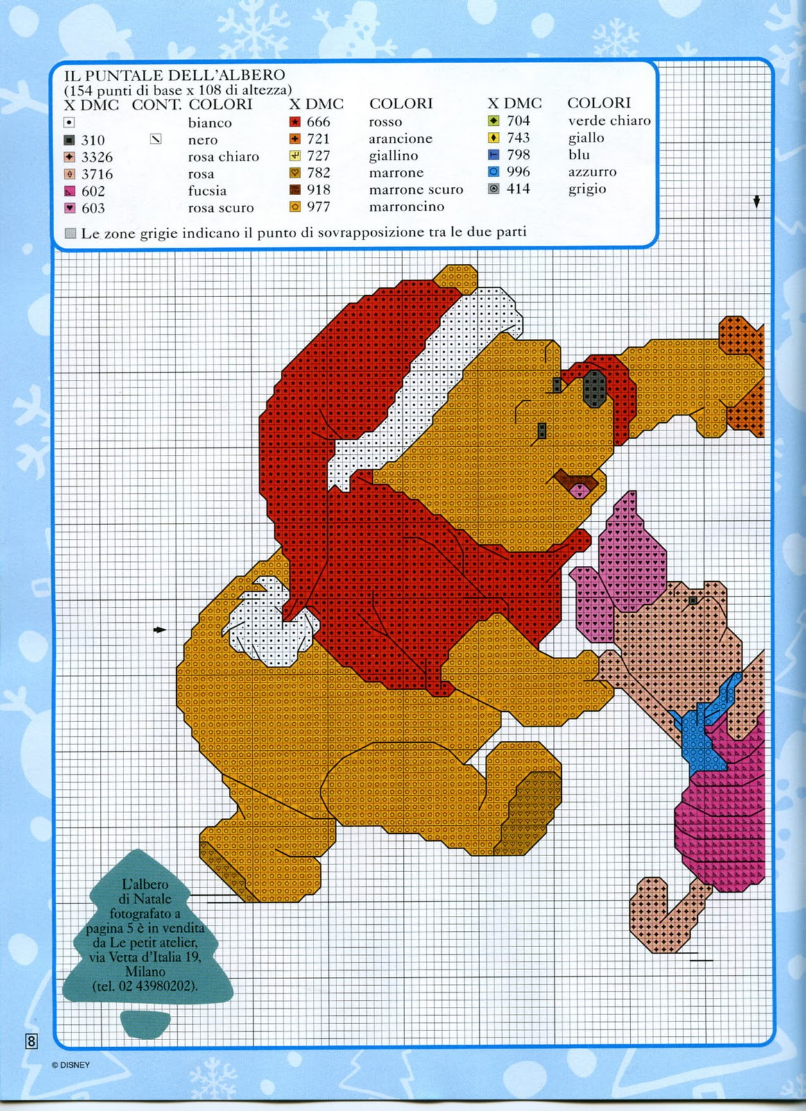 Punto croce natale disney 23 winnie the pooh 1 for Winnie the pooh punto croce schemi