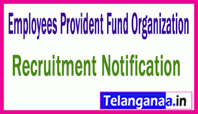 Employees Provident Fund Organization EPFO Recruitment
