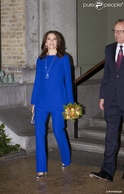 Crown Princess Mary Attend a Dinner in Copenhagen