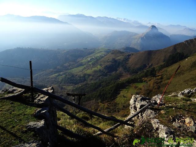 Roldana de la mina del Pilar, en el Cuera