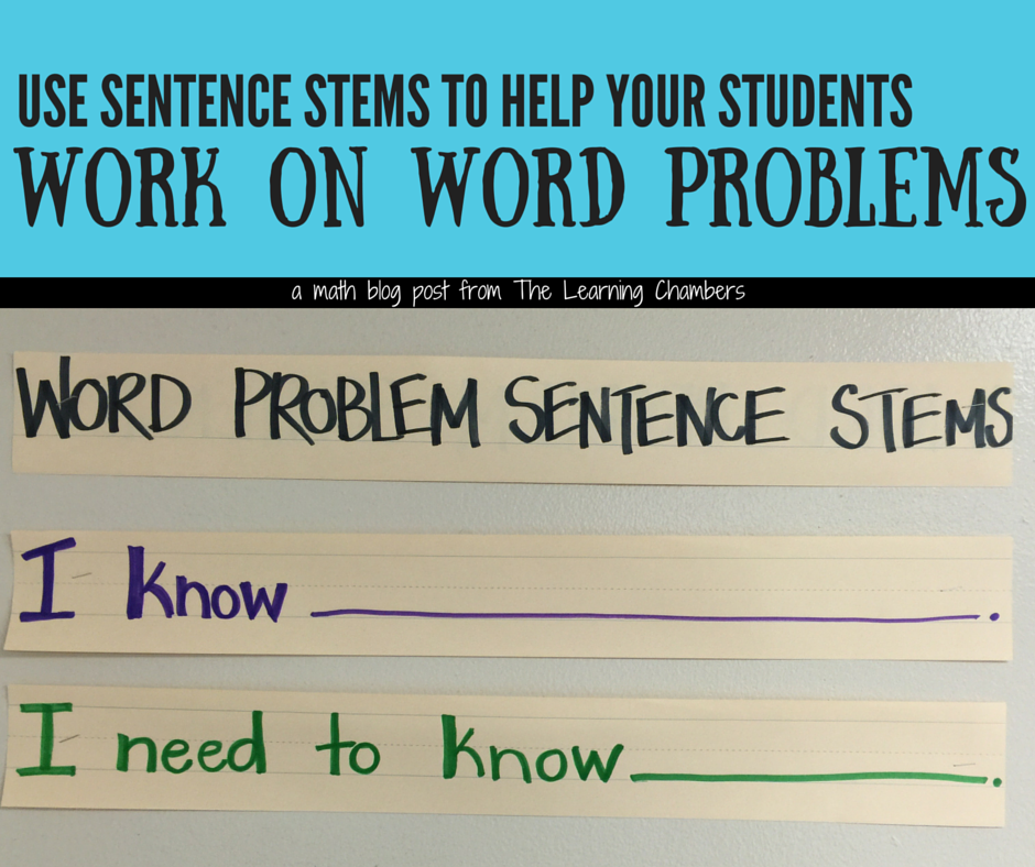 Work on Word Problems - The Learning Chambers