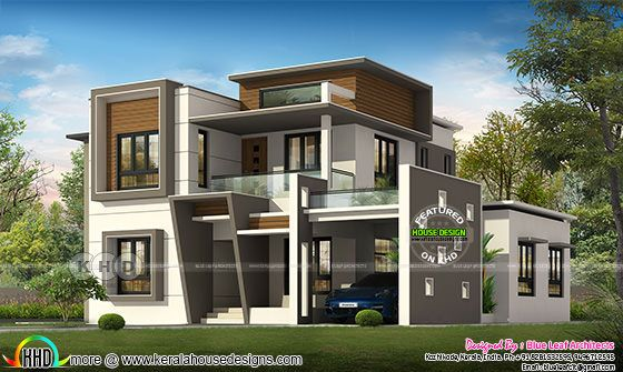 2890 square feet 4 bedroom modern home plan